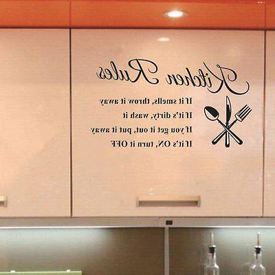 Kitchen Wall Home Decor Vinyl