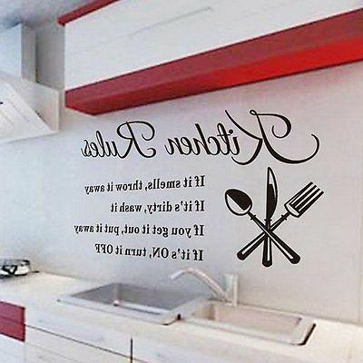 kitchen diy rules quote wall stickers home
