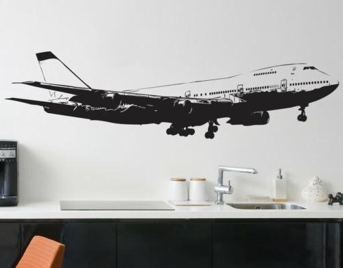 Large 747 Airplane Wall Decal Sticker by Stickerbrand. Flyin