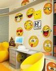 Large Emoji Faces Wall Decal Sticker by Stickerbrand #6052