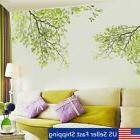 Large Removable Vinyl Green Tree Branch Wall Stickers Decal