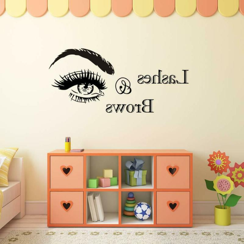 BooDecal and Wall Decals Vinyl Eyebrows Beauty Salon Wal