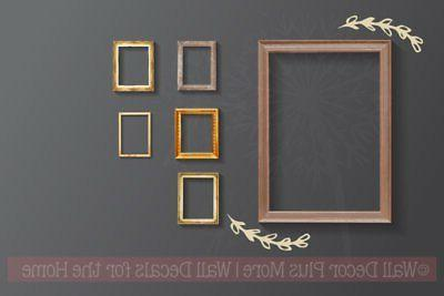 laurel floral elements and pieces wall decals