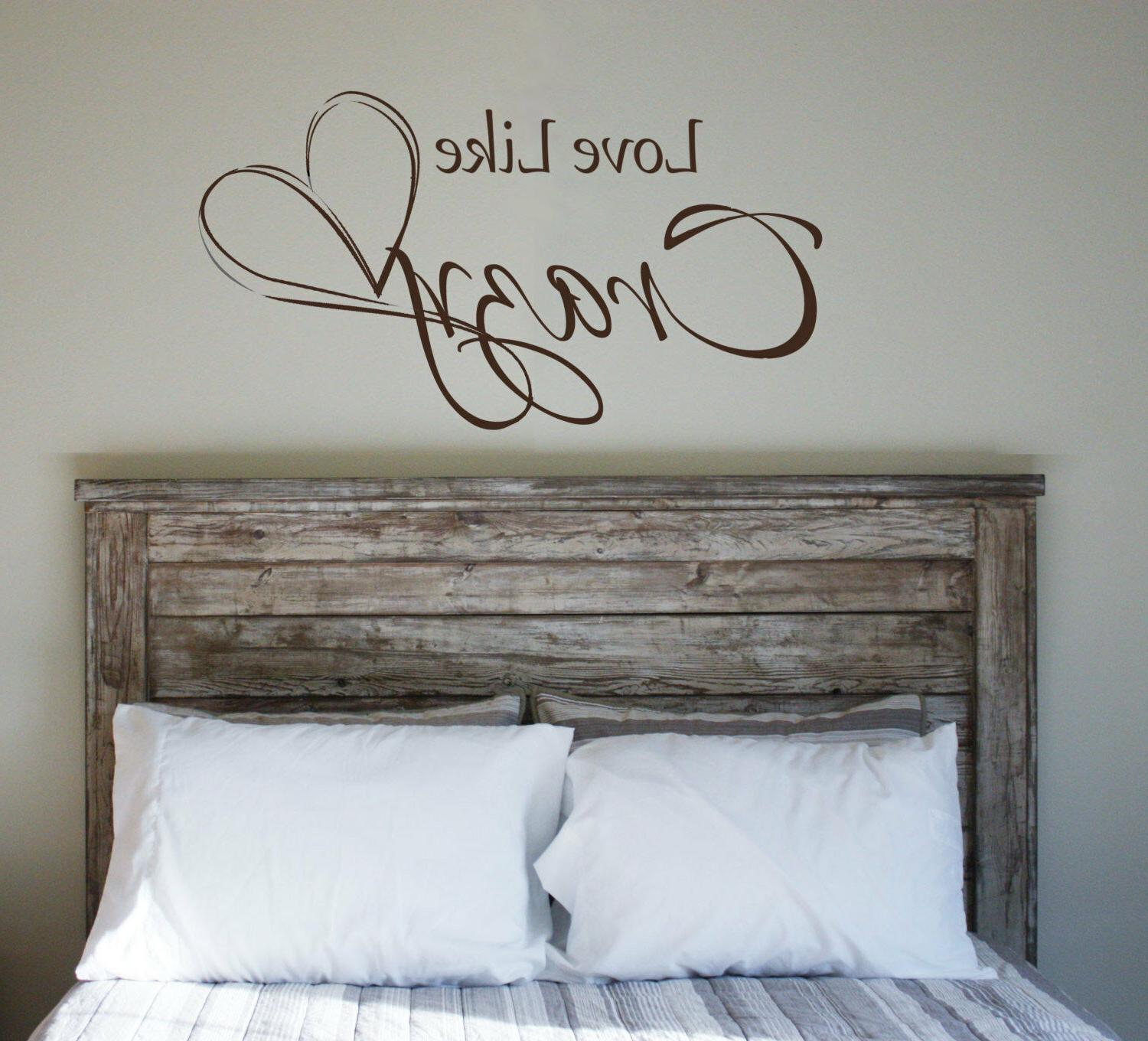 LOVE LIKE CRAZY Quote Vinyl Wall Decal Words Lyrics Letterin