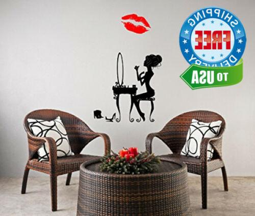 Boodecal Red Mouth Lip Wall Decals Murals...
