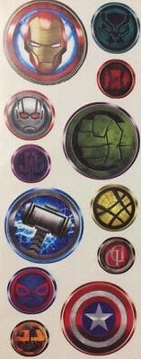 marvel icon wall sticker 12 decals captain