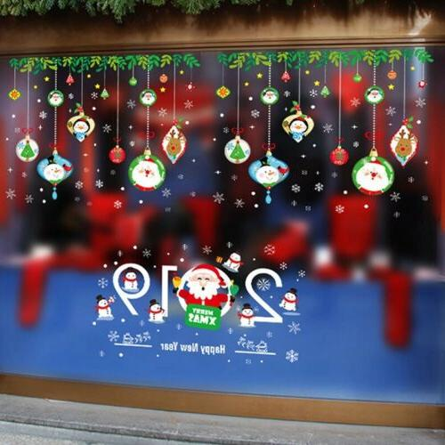 Merry Christmas Sticker Decals Claus Home