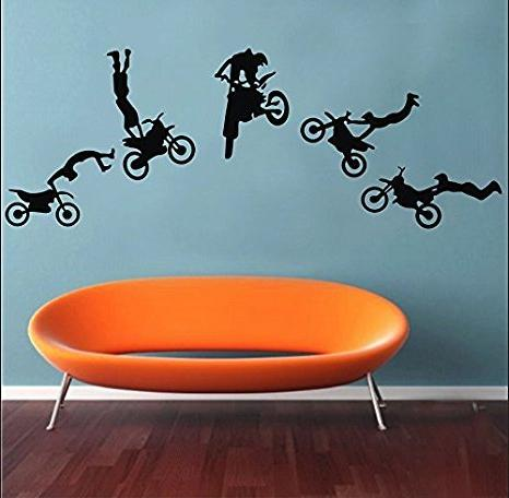 motocross trick wall stickers decals