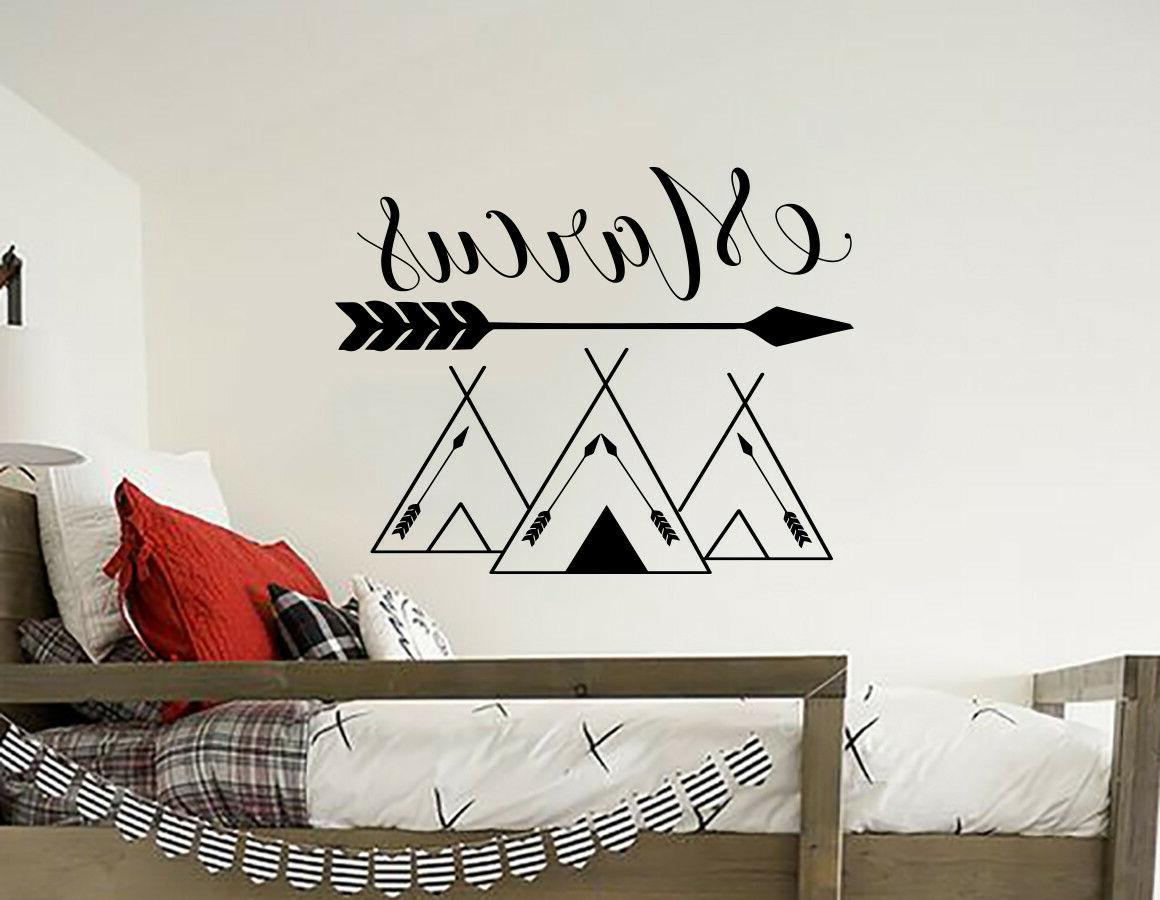 name wall decals tribal mountains decal mountain