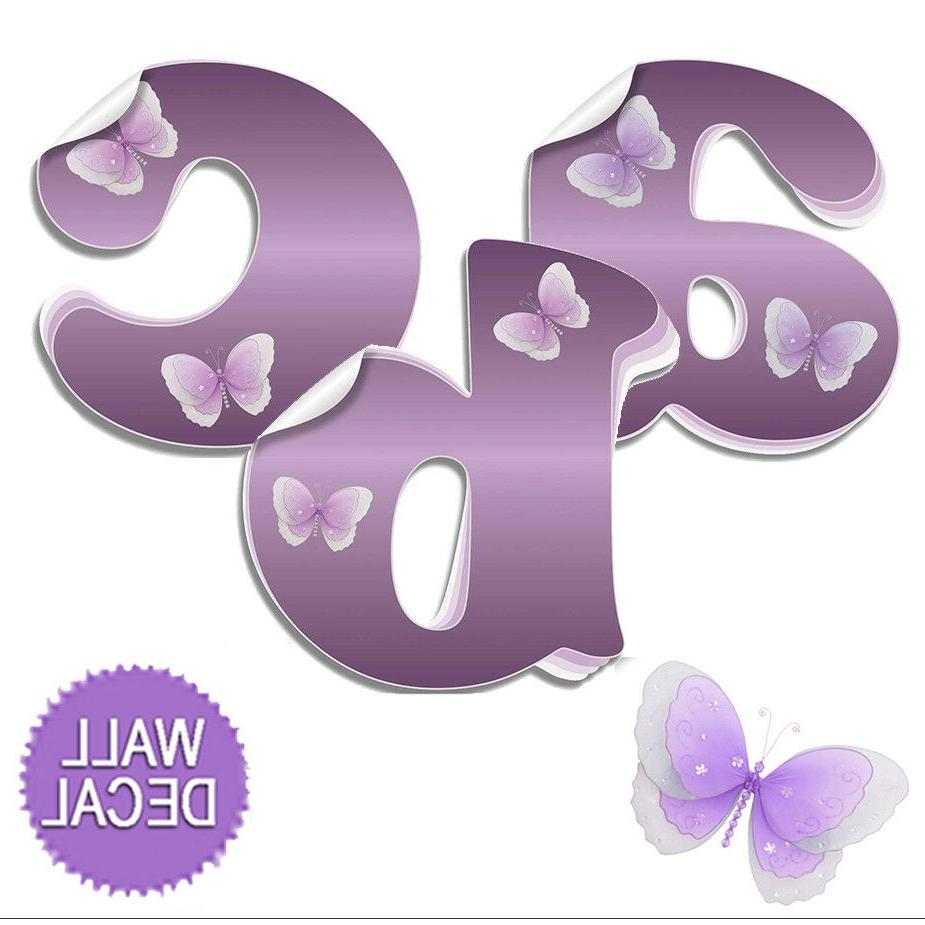 Name Wall Letters Alphabet Stickers Initial Decals Girls Dec