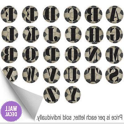 Name Wall Letters Alphabet Stickers Initial Decals Boys Spor
