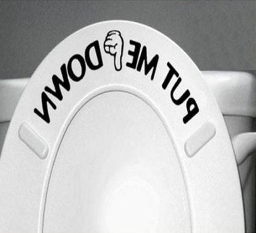 New Toilet Bathroom Decals