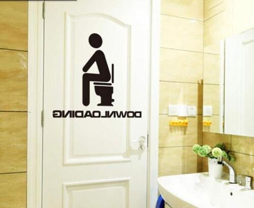 New Toilet Seat Sticker Vinyl Removable Bathroom Decals