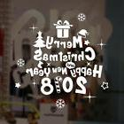 New Year 2018 Merry Christmas Wall Sticker Home Shop Windows