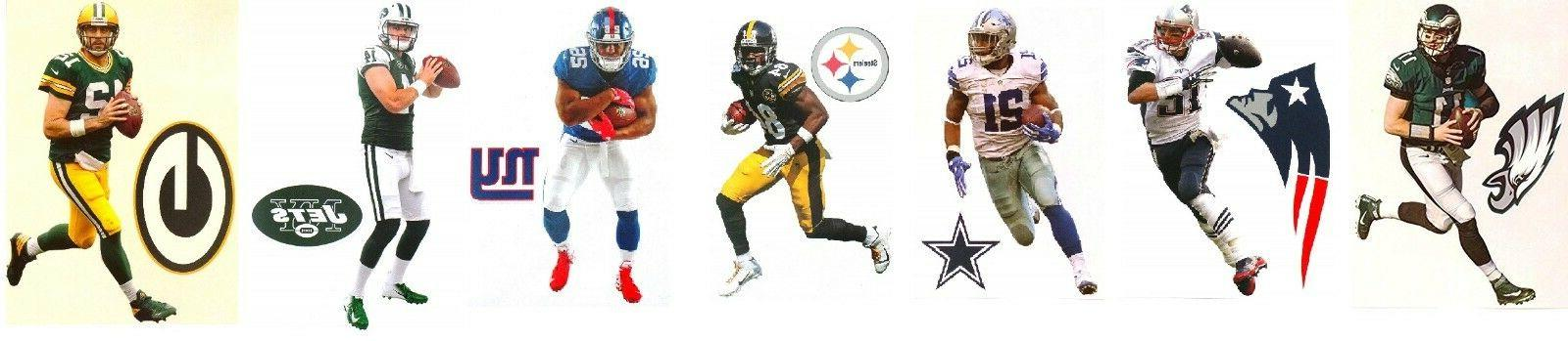 """NFL Official Vinyl Wall Graphic Decals 7"""" INCH You"""