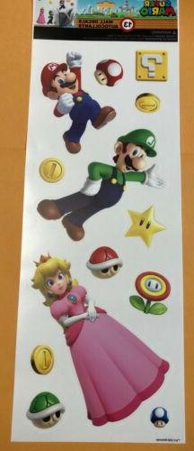 Nintendo Super Mario Brothers Wall Decals Sticker Removable