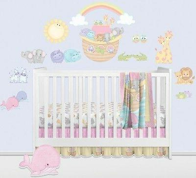 noah s ark wall decals pastel pairs