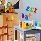 NUMBERS wall stickers 48 Colorful decal School Counting scra