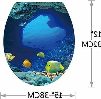 BooDecal Series Wall Tropical Fish Toilet Lid Cover Sti...