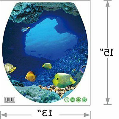BooDecal Undersea Wall Decals Fish Toilet Lid