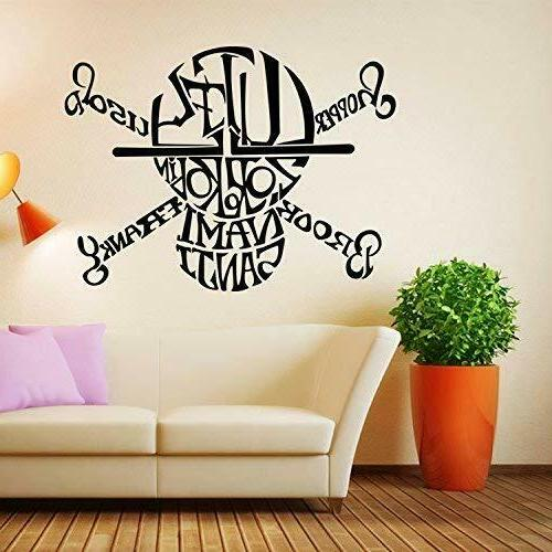 BooDecal One Skull Wall Decals Black Vinyl Wall Stickers Boys