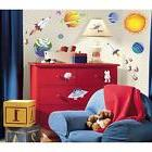 OUTER SPACE wall stickers 35 decals scrapbook Rocket Ship Su
