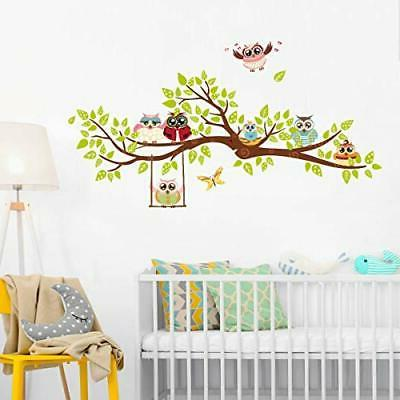ufengke Owl Tree Wall Stickers Wall for