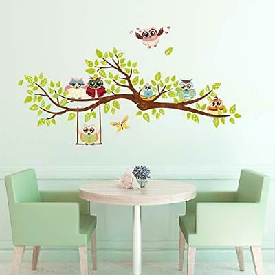 owl family tree wall stickers butterfly diy