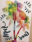 PALM TREES wall sticker 8 colorful decals summer tropical be