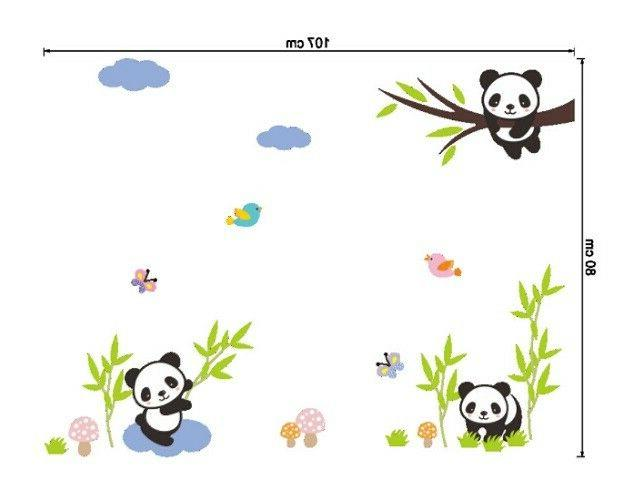 Panda Decal Kids Baby Bedroom Decals