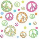 PEACE GLITTER SIGNS Wall Stickers Room Decor Decals Polka Do