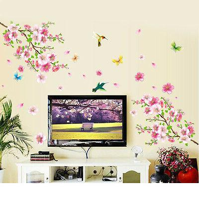 Peach Butterfly DIY DECALS Stickers Home Deco
