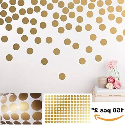 peel and stick gold wall decal confetti