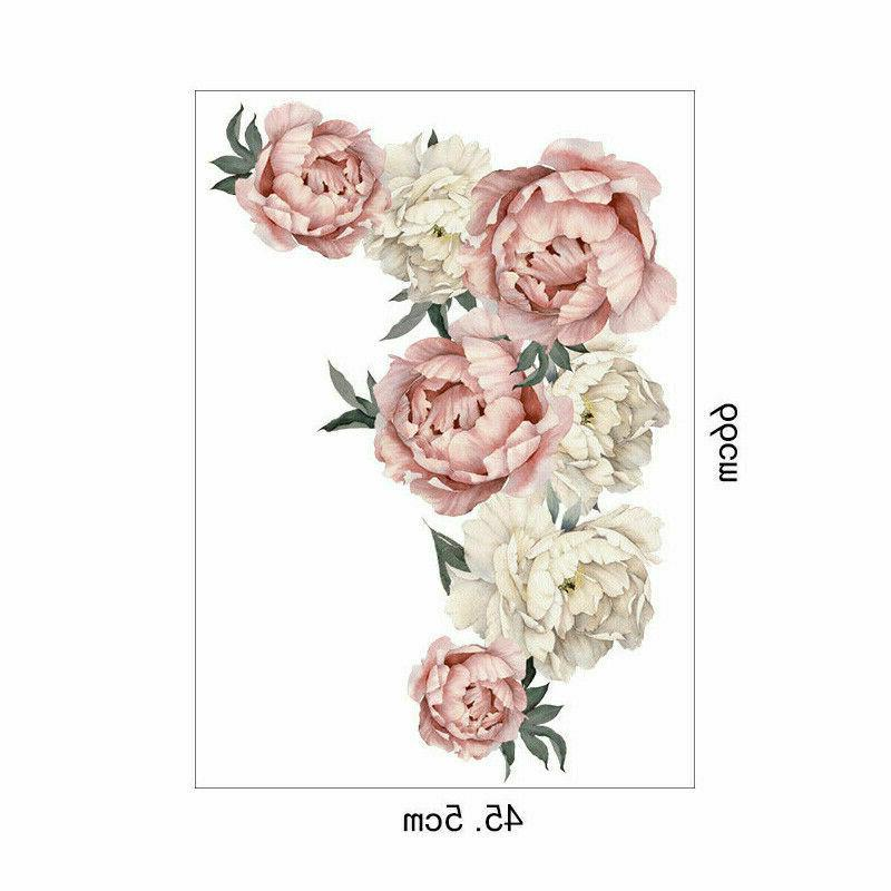Peony Wall Sticker Decals Kids Room Home Gift