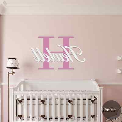 Personalized Family Name Monogram With Initial  Vinyl Wall D