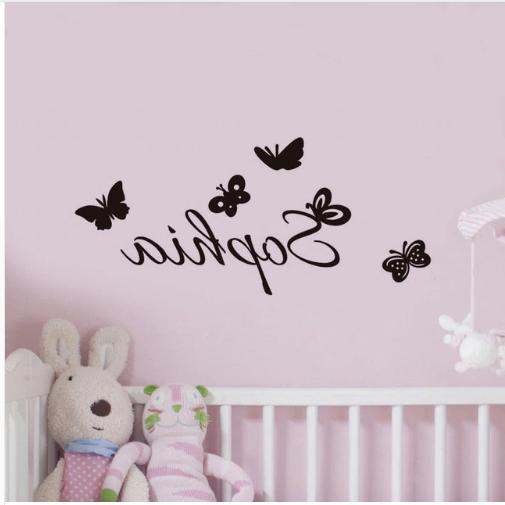 personalized name vinyl art wall stickers