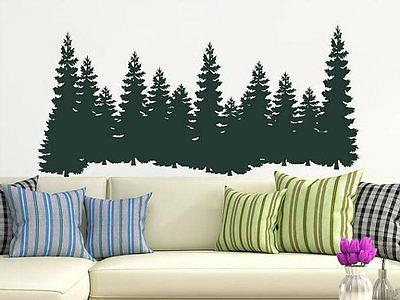 Pine Trees Wall Decal Forest Landscape Nature Vinyl Sticker
