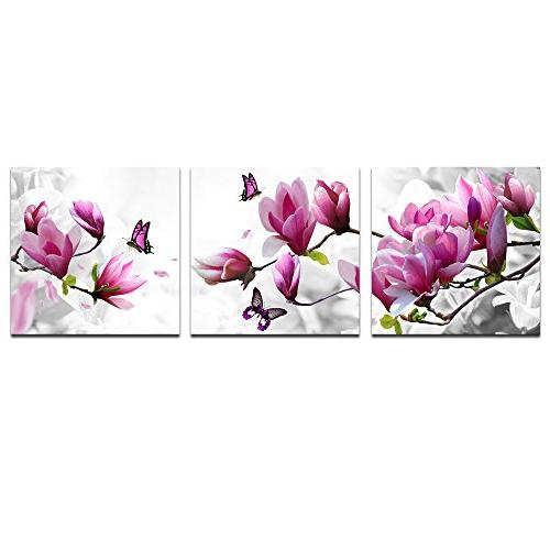 pink flower picture canvas print