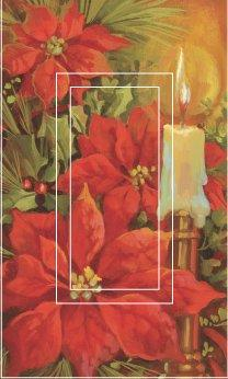 SwitchStix Poinsettia & Candle Single Rocker Peel and Stick