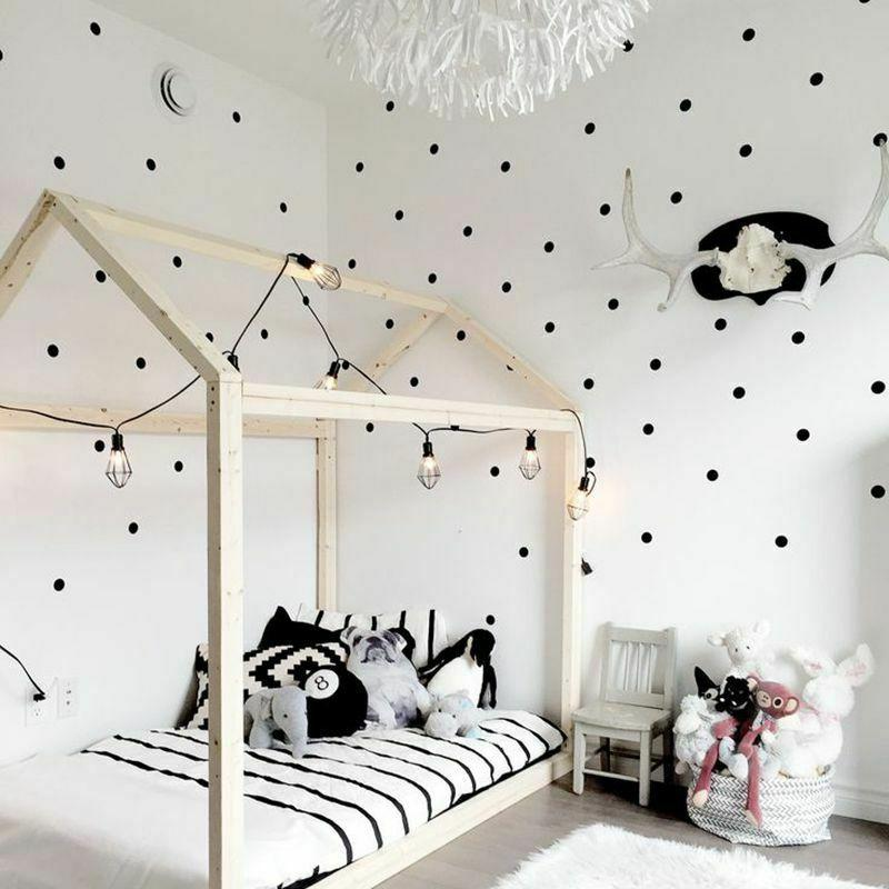Polka Dots Wall Stickers Circle Wall Decals Kids Room Home D