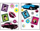 Pop Retro Art Wall Decals Stickers 50's 60's Era-Large Remov