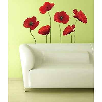 Poppies Art Flower Giant Wall Decal Decor Kitchen