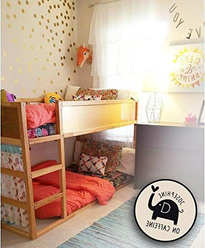 Posh Circle Wall Decal Stickers for Kids Fun Vinyl Polka Decor Safe for Wall Paint