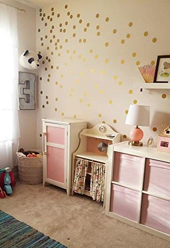Posh Dots Metallic Circle Wall Decal for Festive Baby Nursery Kids Fun Vinyl for Wall