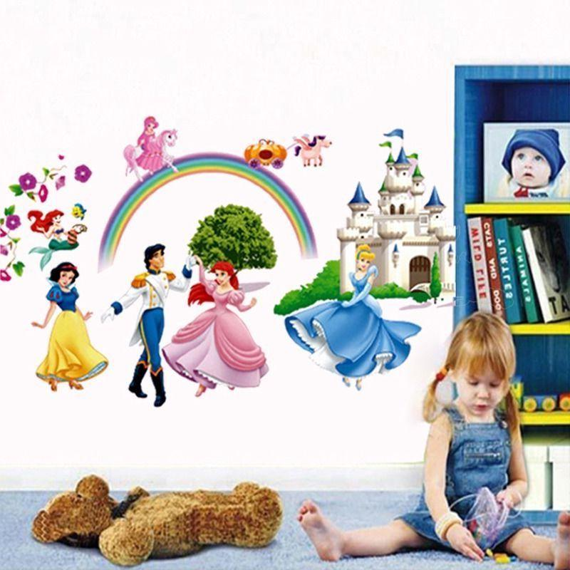 Princess 3D Decals Mural Decor For Kids Room Home