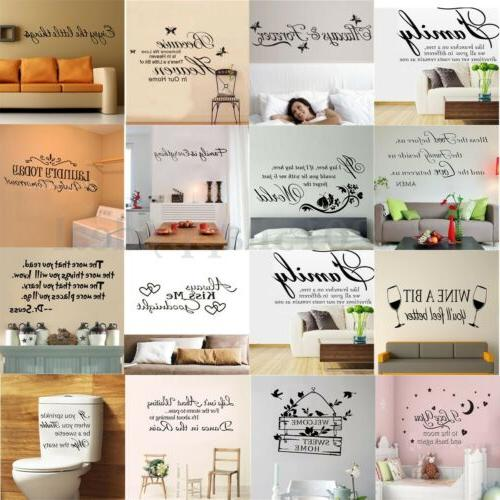 quote mural words art vinyl wall sticker