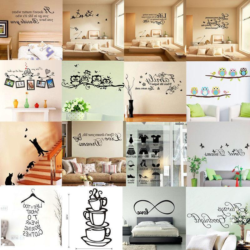 Quote Wall Stickers Art Decal Home Mural