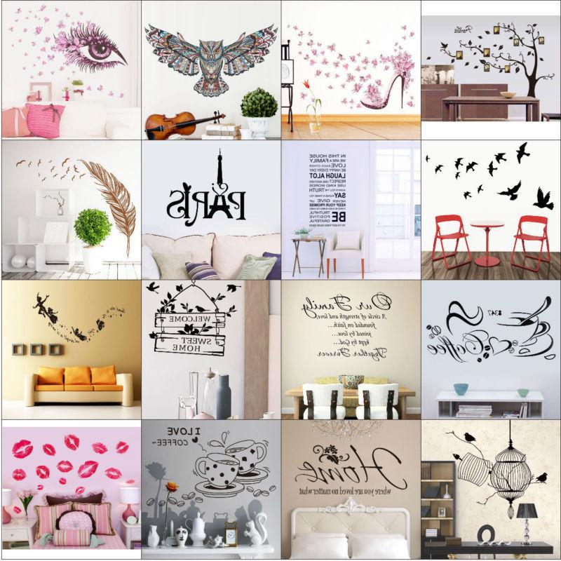 Quote Wall Art DIY Decal Mural New