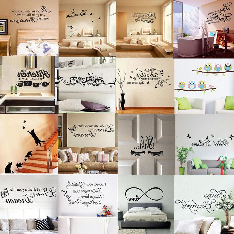 Quote Art Home Room DIY Decal Mural New