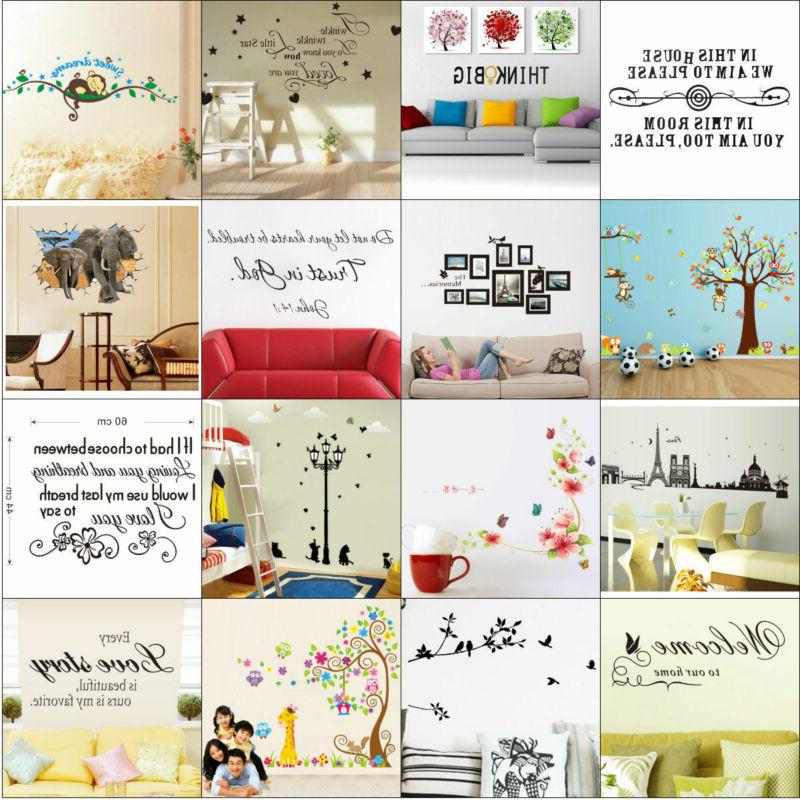 quote wall stickers vinyl art home room